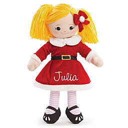 Blonde Santa Dress Doll in Red