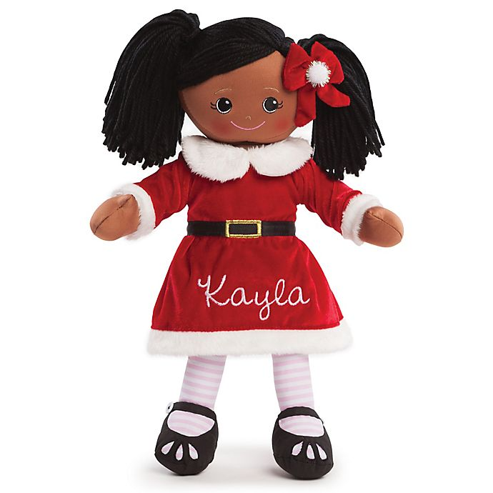Alternate image 1 for African American Santa Dress Doll in Red