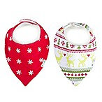 Ziggy Baby™ 2-Pack Merry & Bright Bandana Bibs