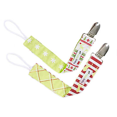 Ziggy Baby™ 2-Pack Merry & Bright Pacifier Clips