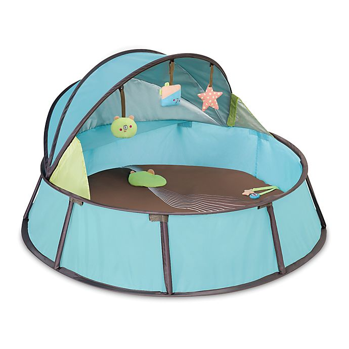 Alternate image 1 for babymoov® Anti-UV Playpen in Blue/Taupe