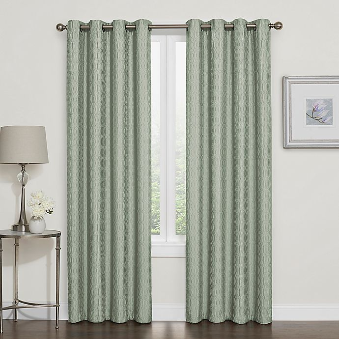 Alternate image 1 for Darcy 100% Blackout Grommet Top Window Curtain Panel