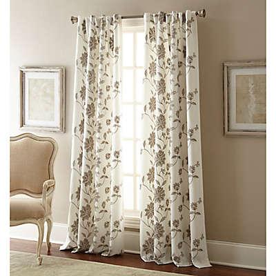 Jaylynn Rod Pocket Embroidered Window Curtain Panel