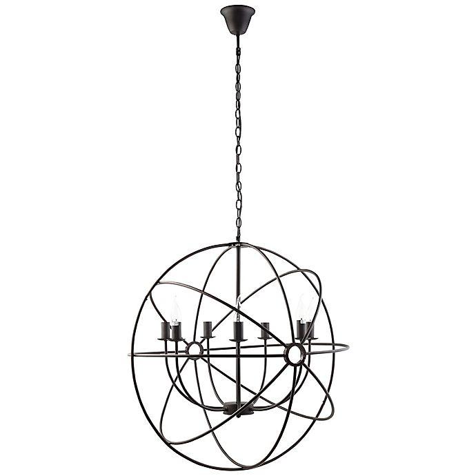 Alternate image 1 for Modway LexMod 7-Light Atom Chandelier in Brown