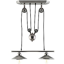 Modway Innovateous 2-Light Ceiling Fixture in Silver