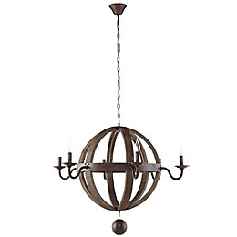 Modway Catapult 6-Light Chandelier in Antique Brass