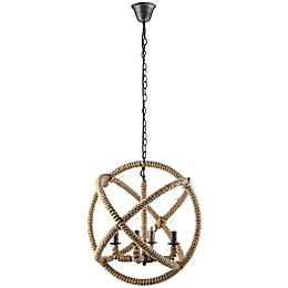 Modway Intention 4-Light Chandelier in Brown