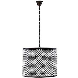 Modway Prosperity 12-Light Chandelier in Brown
