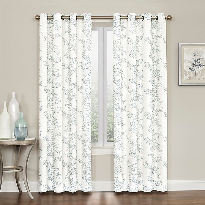 Alternate image 1 for Brielle Embroidery Grommet Top Window Curtain Panel