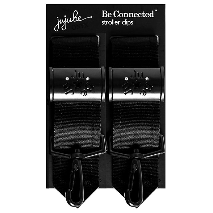 Alternate image 1 for Ju-Ju-Be® Onyx Be Connected Stroller Clips in Black (Set of 2)