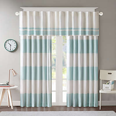 Regency Heights Maddie Stripe Rod Pocket/Back Tab Window Curtain Panel and Valance