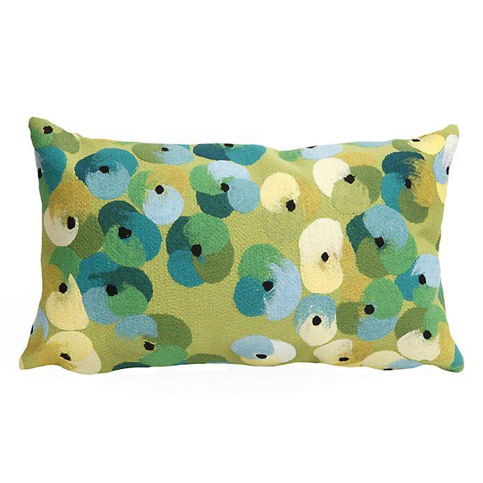 Liora Manne Visions Ii Pansy Lumbar Rectangular Indoor Throw Pillow