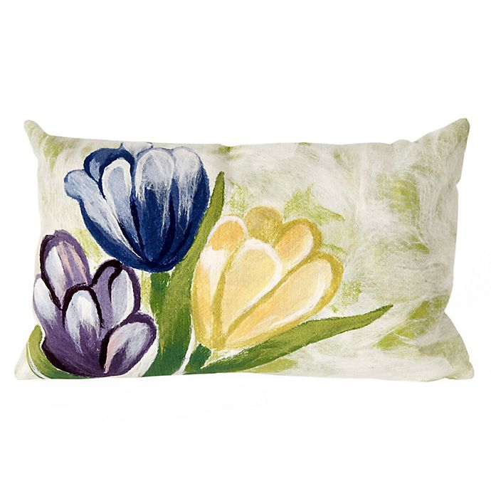 Alternate image 1 for Liora Manne Tulips Oblong Indoor/Outdoor Throw Pillow