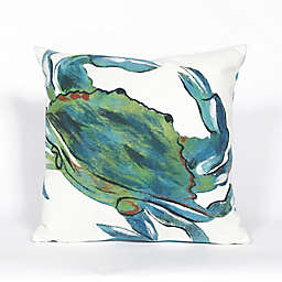 Liora Manne Visions III Blue Crab 20-Inch x 20-Inch Throw Pillow in Blue