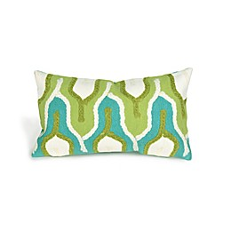 Liora Manne Visions II Crochet Tower 12-Inch x 20-Inch Lumbar Pillow in Green