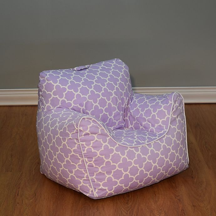Brilliant Structured Bean Bag Chair With Removable Cover In Lavender Gamerscity Chair Design For Home Gamerscityorg