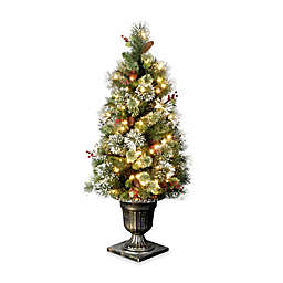 national tree company 4 foot wintry pine pre lit entrance tree with clear lights