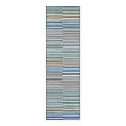 Couristan® Cape Shoreham 2-Foot 3-Inch x 7-Foot 10-Inch Indoor/Outdoor Rug in Ivory/Multi