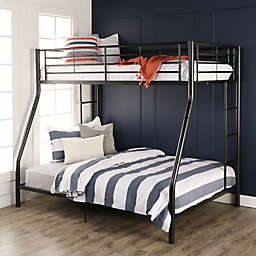 Forest Gate Riley Twin over Full Metal Bunk Bed in Black