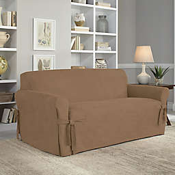 Perfect Fit® Smooth Suede Relaxed Fit Loveseat Slipcover