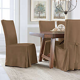 Perfect Fit® Smooth Suede Relaxed Fit Dining Chair Slipcover
