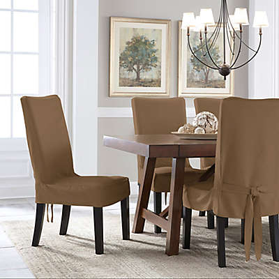 Perfect Fit® Smooth Suede Relaxed Fit Dining Chair Short Slipcover