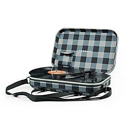 Crosley Checkerboard Portable Turntable in Grey/White