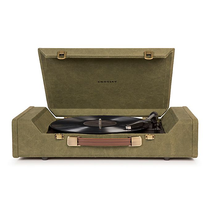 Alternate image 1 for Crosley Nomad Portable Turntable in Green