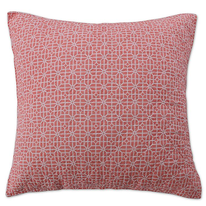 Alternate image 1 for Coral Breeze European Pillow Sham in Coral