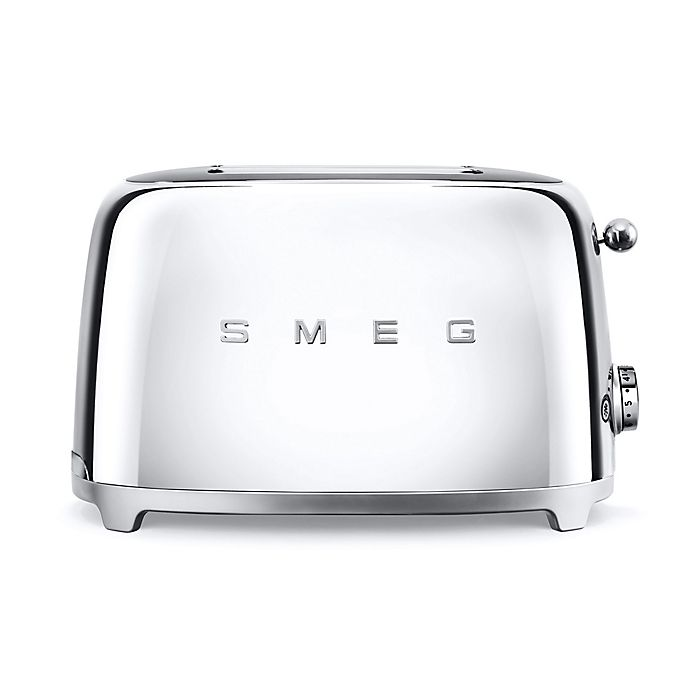 Alternate image 1 for SMEG 50's Retro Style 2-Slice Toaster in Polished Stainless