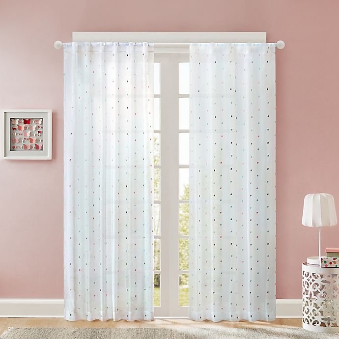 Alternate image 1 for Regency Heights Nanni Embroidery Sheer Window Curtain Panel in White