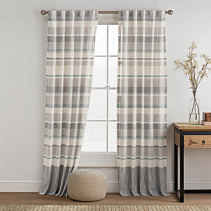 Alternate image 1 for KAS ROOM Logan Rod Pocket Back Tab Window Curtain Panel
