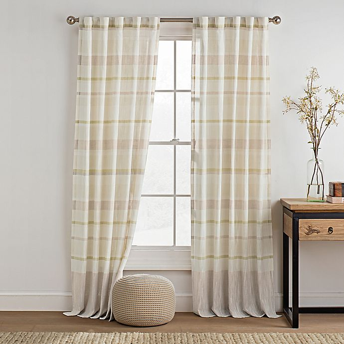 Alternate image 1 for KAS ROOM Logan 84-Inch Rod Pocket Back Tab Window Curtain Panel in Lime