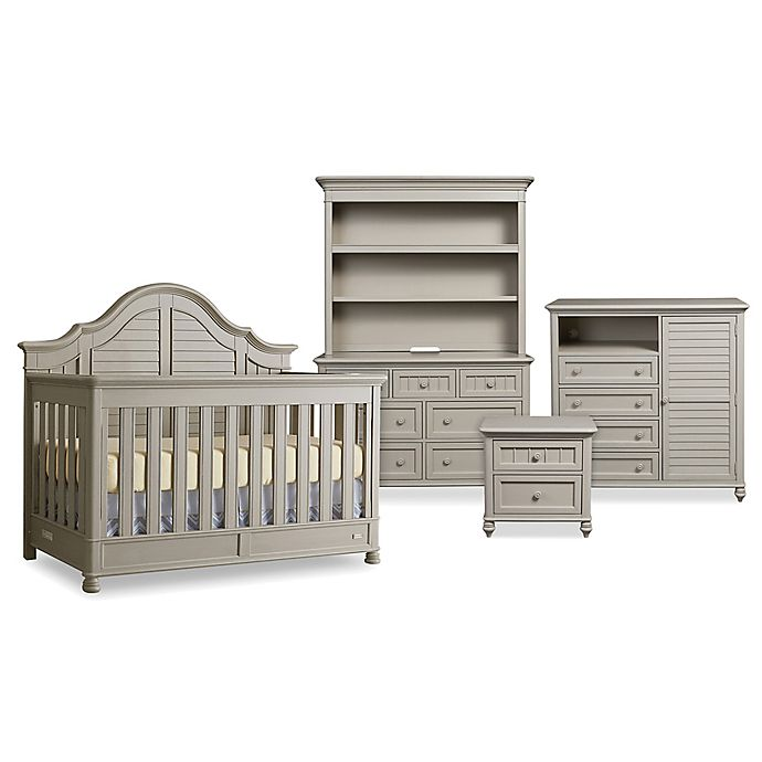 Bettbaby Premier Nantucket Nursery Furniture Collection In Oyster Grey