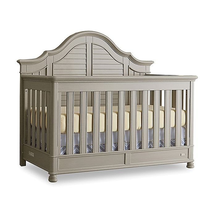 Alternate image 1 for Bassettbaby® Premier Nantucket 4-in-1 Convertible Crib in Oyster Grey