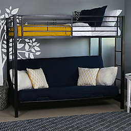 Forest Gate Twin Over Futon Metal Bunk Bed