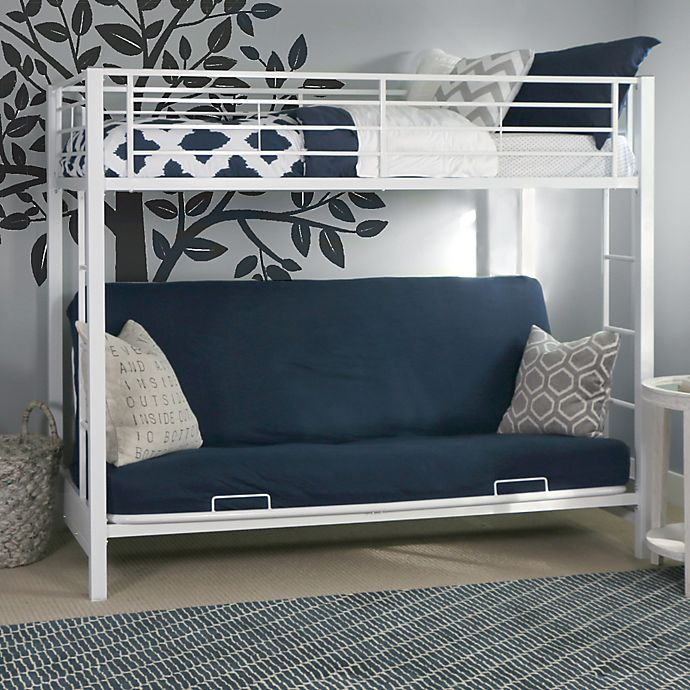 Alternate image 1 for Forest Gate Twin Over Futon Metal Bunk Bed