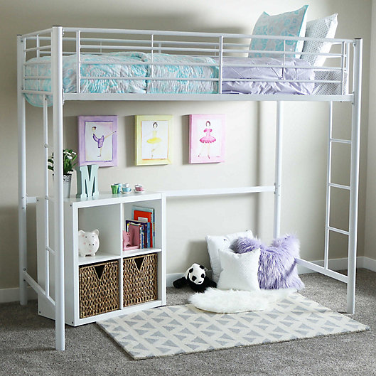 Alternate image 1 for Forest Gate Riley Twin Metal Loft Bed