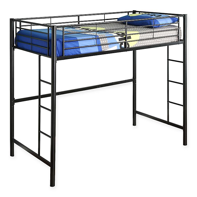 Alternate image 1 for Forest Gate Riley Twin Metal Loft Bed in Black