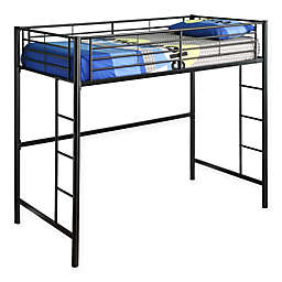 Forest Gate Riley Twin Metal Loft Bed in Black