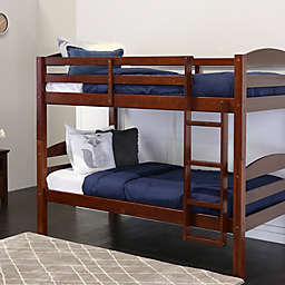 Forest Gate Solid Wood Twin-Over-Twin Bunk Bed in Espresso