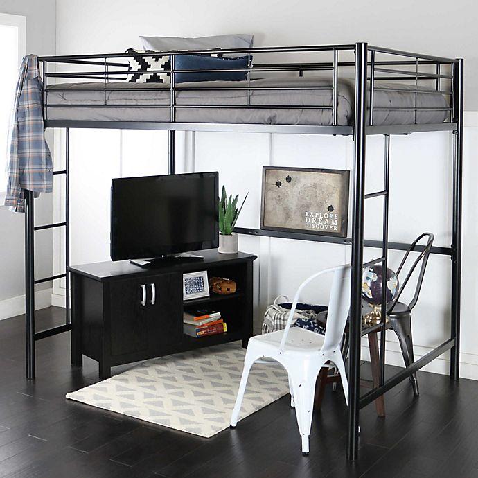 Alternate image 1 for Forest Gate Riley Metal Loft Bed