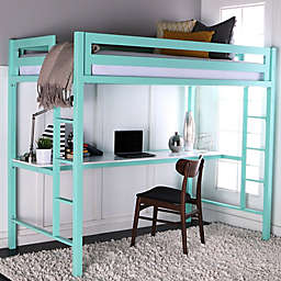 Forest Gate Twin Loft Bed with Workstation
