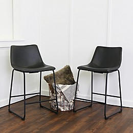 Forest Gate Faux Leather Bar and Counter Stools (Set of 2)
