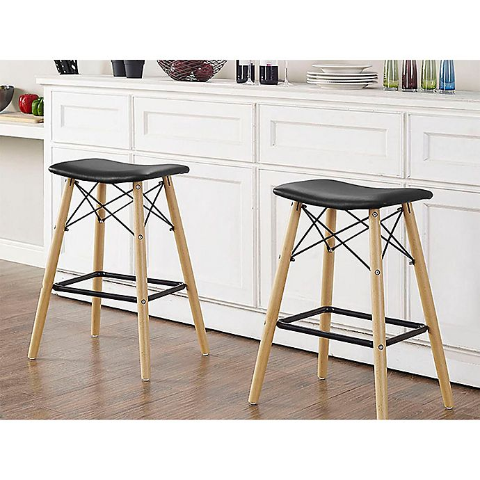 Magnificent Forest Gate Retro Faux Leather Stools In Black Bed Bath Ocoug Best Dining Table And Chair Ideas Images Ocougorg