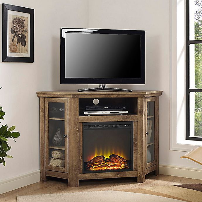 Forest Gate 48 Noah Traditional Corner Fireplace Tv Stand Bed