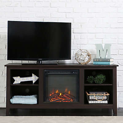 "Forest Gate 58"" Huntley Traditional Fireplace Wood TV Stand"