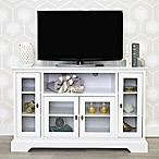 Forest Gate 52-Inch Highboy Wood TV Console in White
