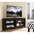 Forest Gate 58  Thomas Traditional Wood Corner TV Console in Espresso