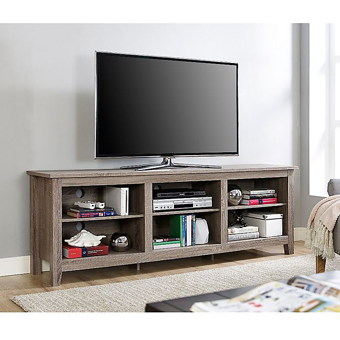 Alternate image 1 for Forest Gate 70-Inch Asher Traditional Wood TV Stand in Driftwood